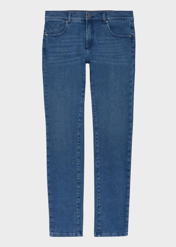 Jean skinny en coton stretch délavé bleu indigo - Father and Sons 40594