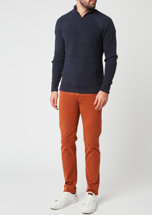 Jean skinny en coton marron uni - Father and Sons 27839