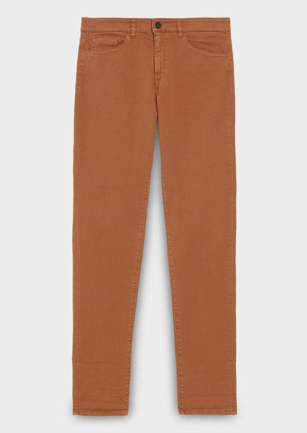 Jean skinny en coton marron uni - Father and Sons 27837