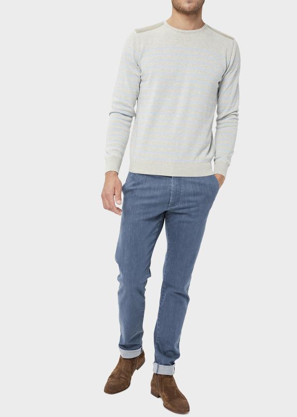 Jean skinny en coton organique bleu ciel - Father and Sons 36022