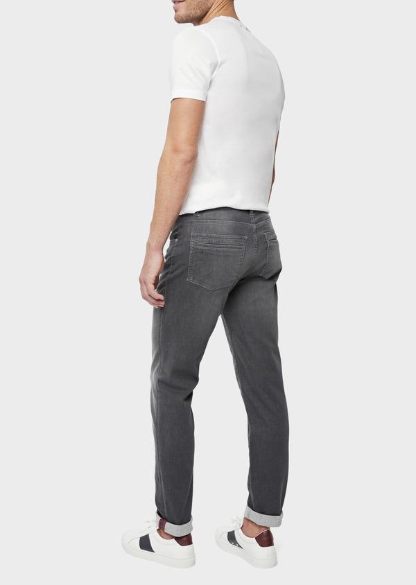 Jean skinny en coton mélangé stretch gris - Father and Sons 39208
