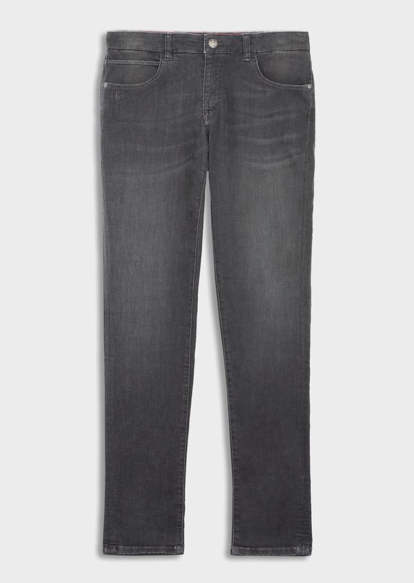 Jean skinny en coton mélangé stretch gris - Father and Sons 39205