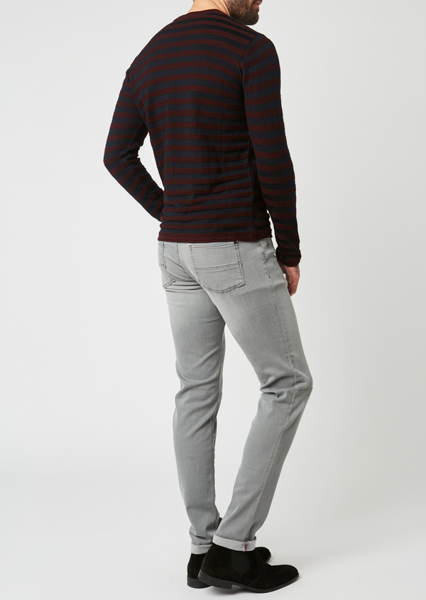 Jean skinny en coton hyperflex gris - Father and Sons 27834