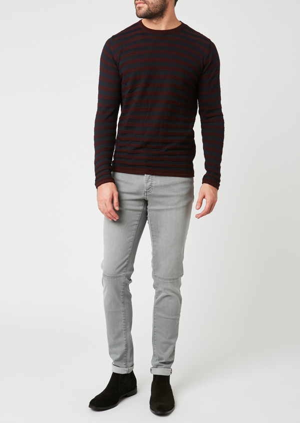 Jean skinny en coton hyperflex gris - Father and Sons 27833