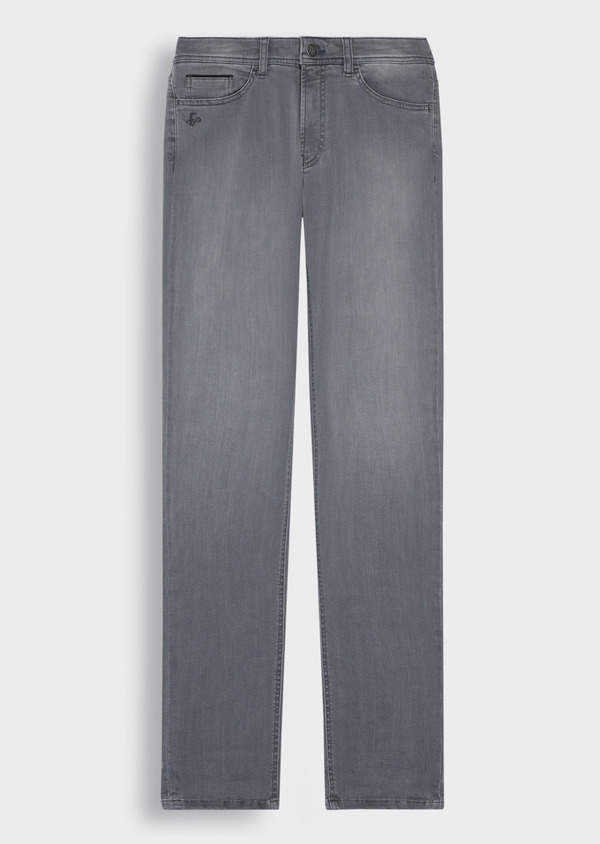 Jean skinny en coton mélangé stretch gris clair - Father and Sons 36702