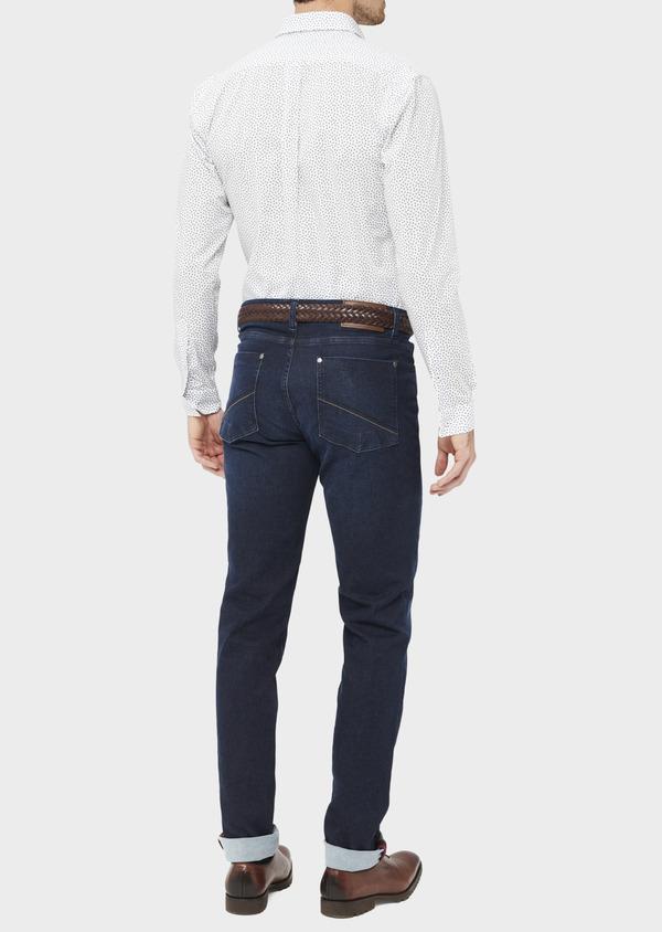 Jean skinny en coton stretch bleu indigo - Father and Sons 36709
