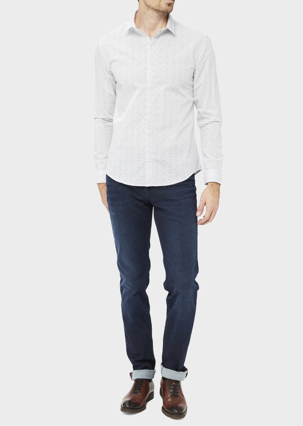 Jean skinny en coton stretch bleu indigo - Father and Sons 36708