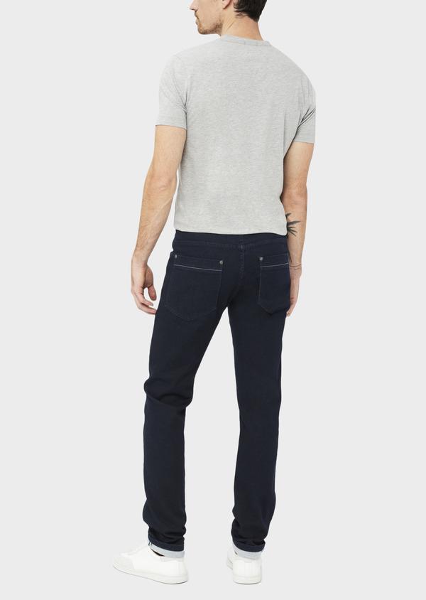 Jean skinny en coton mélangé stretch bleu marine - Father and Sons 38675