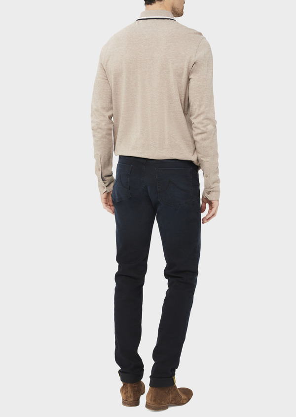 Jean skinny en coton stretch noir - Father and Sons 36953