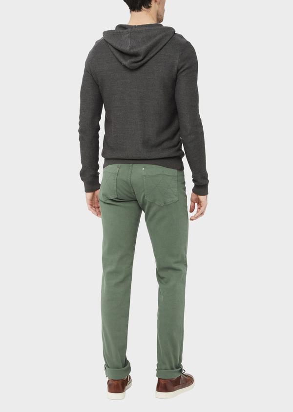 Jean skinny en coton strech vert kaki - Father and Sons 36717