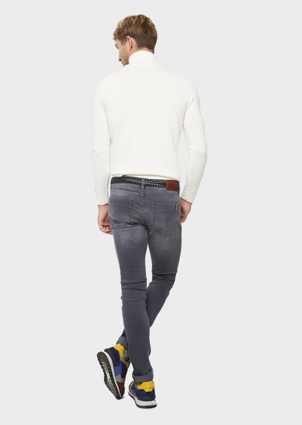 Jean skinny en coton stretch gris - Father and Sons 41572