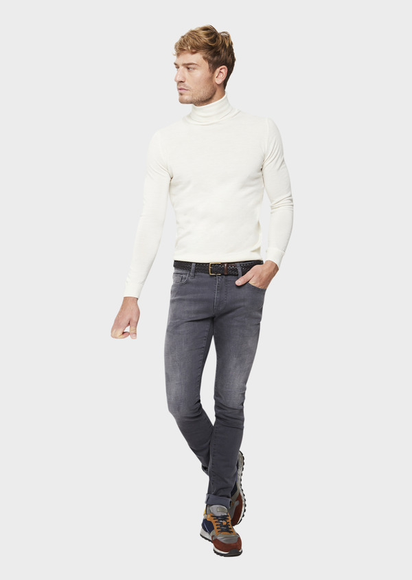Jean skinny en coton stretch gris - Father and Sons 41571