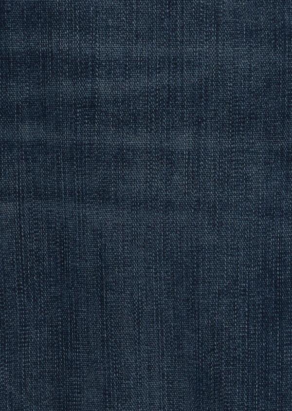 Jean skinny en coton stretch délavé bleu marine - Father and Sons 41302