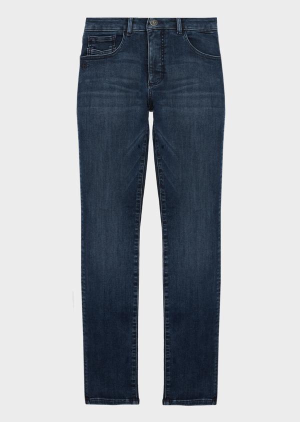 Jean skinny en coton stretch délavé bleu marine - Father and Sons 41299