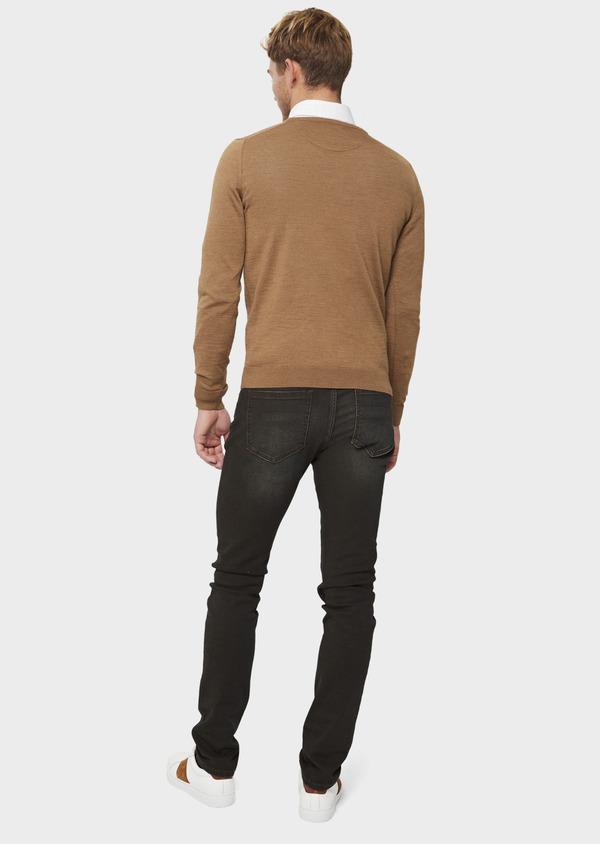 Jean skinny en coton stretch marron foncé - Father and Sons 41576