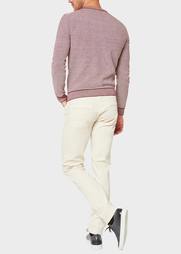 Jean skinny en coton stretch beige - Father and Sons 33198