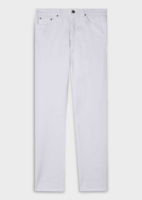 Jean skinny en coton stretch blanc - Father and Sons 33199