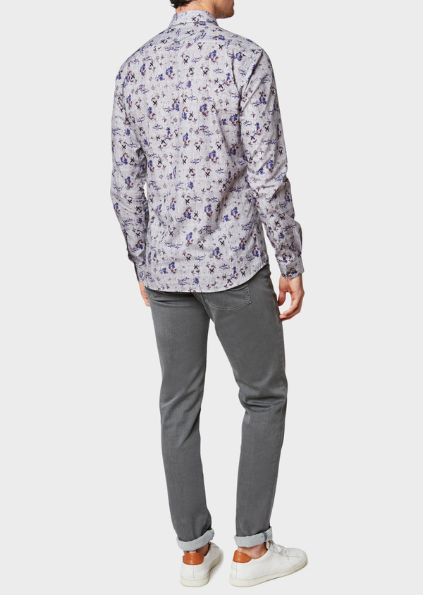Jean skinny en coton stretch gris clair - Father and Sons 33194