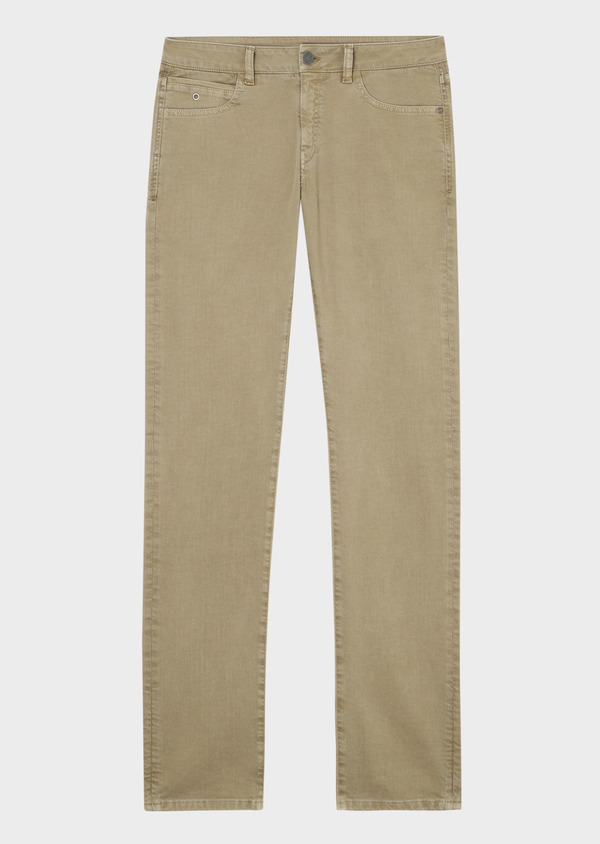 Jean skinny en coton stretch vert kaki - Father and Sons 33878