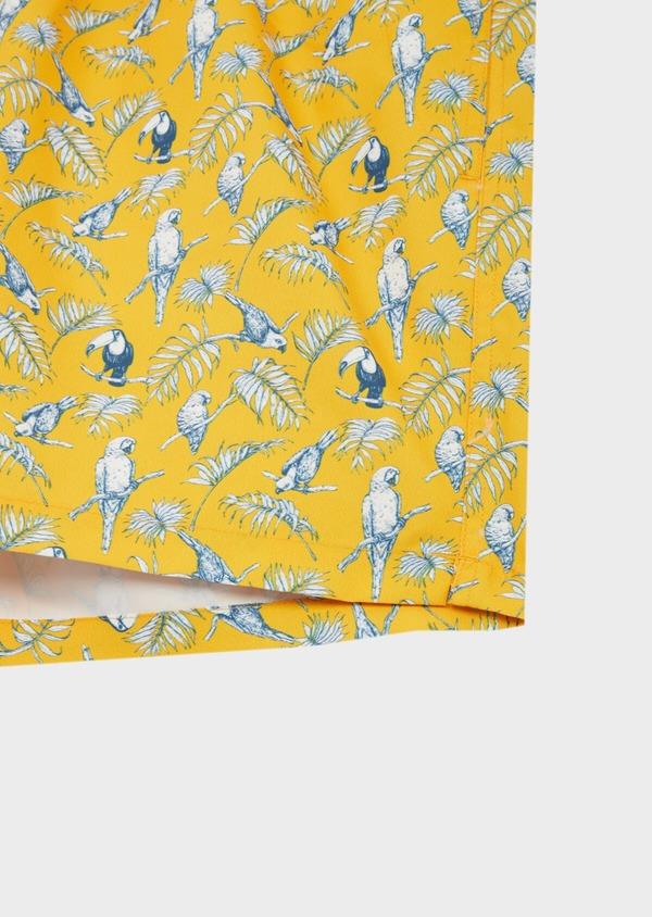 Maillot de bain jaune à motifs perroquets bleu et blanc - Father and Sons 40411