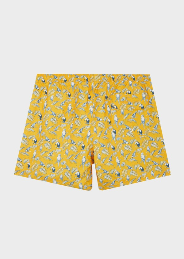 Maillot de bain jaune à motifs perroquets bleu et blanc - Father and Sons 40412