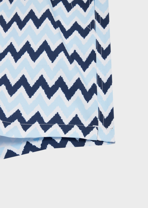 Maillot de bain marine à motifs zig zag bleu ciel - Father and Sons 40408