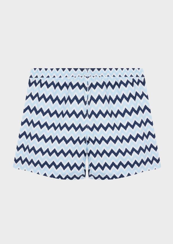 Maillot de bain marine à motifs zig zag bleu ciel - Father and Sons 40409