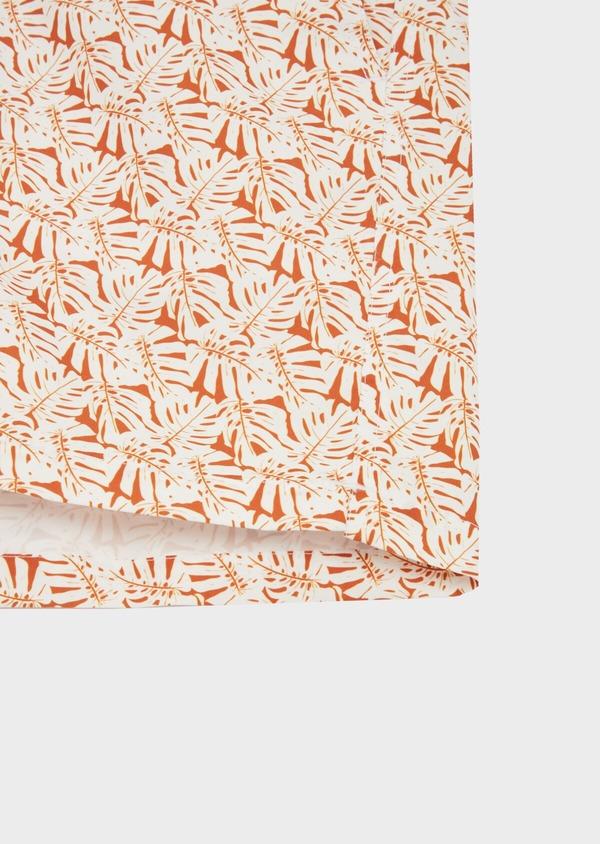Maillot de bain à motifs feuilles marron et blanc - Father and Sons 40423