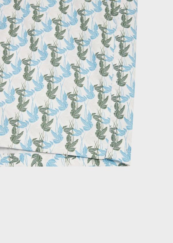 Maillot de bain vert kaki à motifs feuillages bleu et gris - Father and Sons 40418