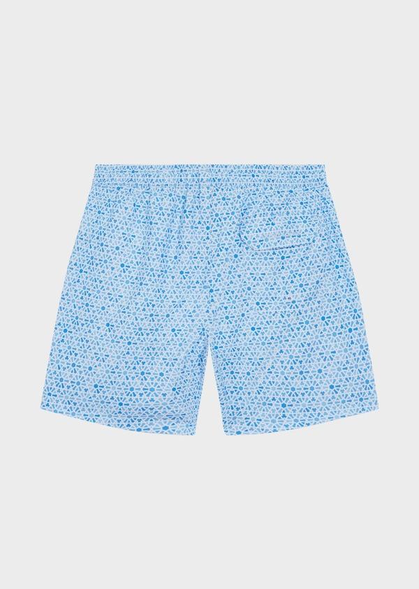 Maillot de bain bleu ciel à motif fantaisie - Father and Sons 34280