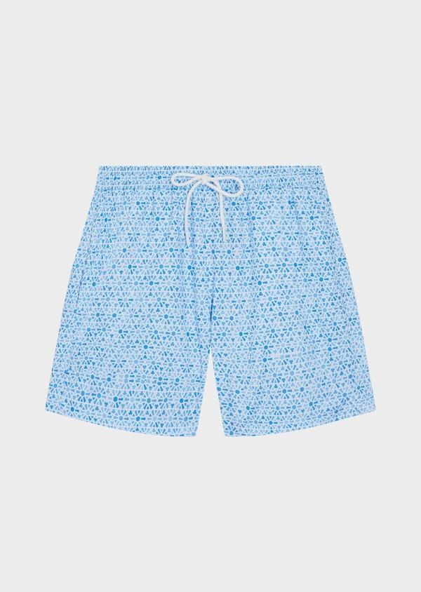 Maillot de bain bleu ciel à motif fantaisie - Father and Sons 34278