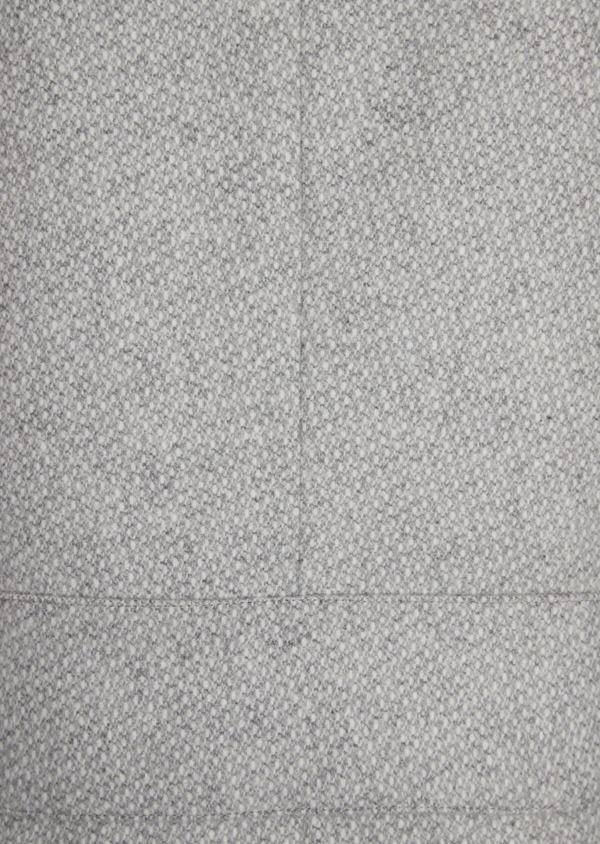 Manteau en laine mélangée grise à motif fantaisie - Father and Sons 36965