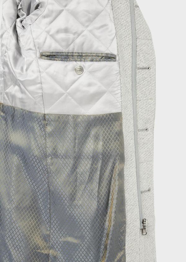 Manteau en laine mélangée grise à motif fantaisie - Father and Sons 36969