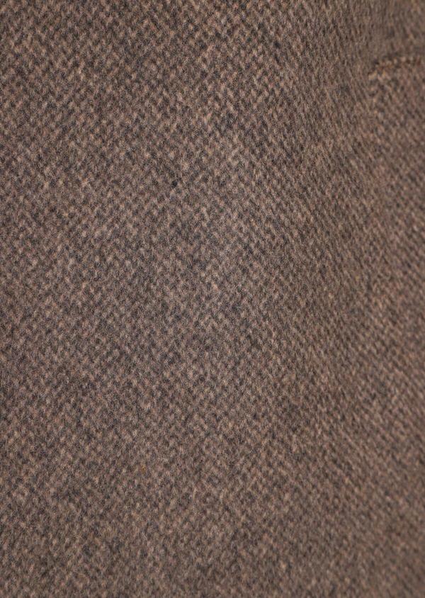 Manteau en laine mélangée marron à motif fantaisie - Father and Sons 36073