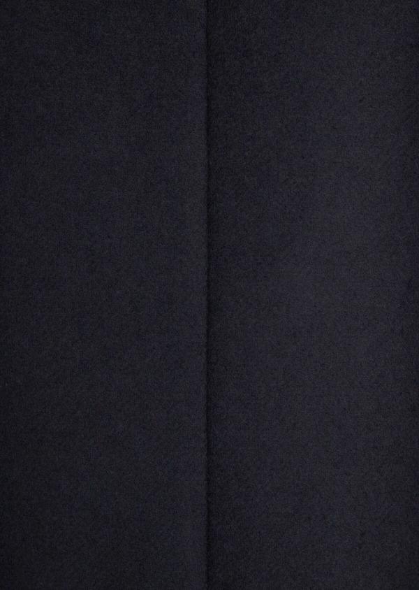 Manteau en laine mélangée unie marine - Father and Sons 36755