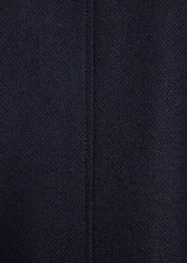Manteau en laine mélangée à motif fantaisie bleu et doudoune amovible - Father and Sons 36730