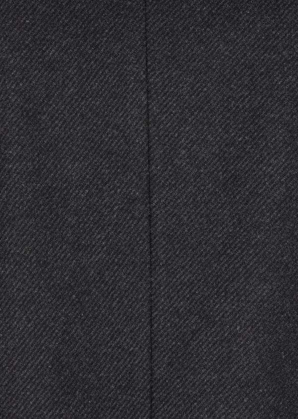 Manteau en laine mélangée à rayures gris anthracite - Father and Sons 36719