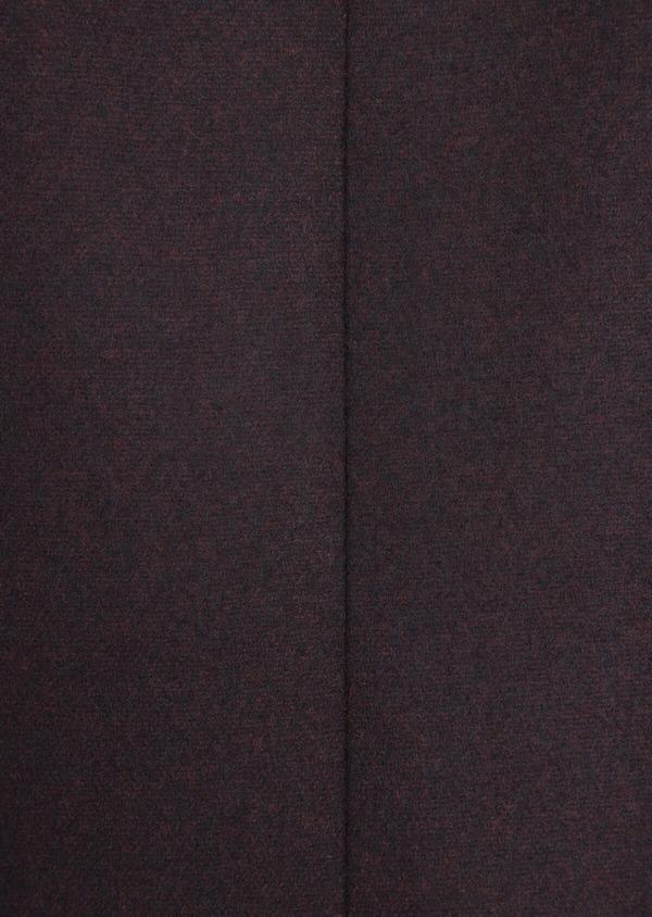 Manteau en laine mélangée unie bordeaux - Father and Sons 36352