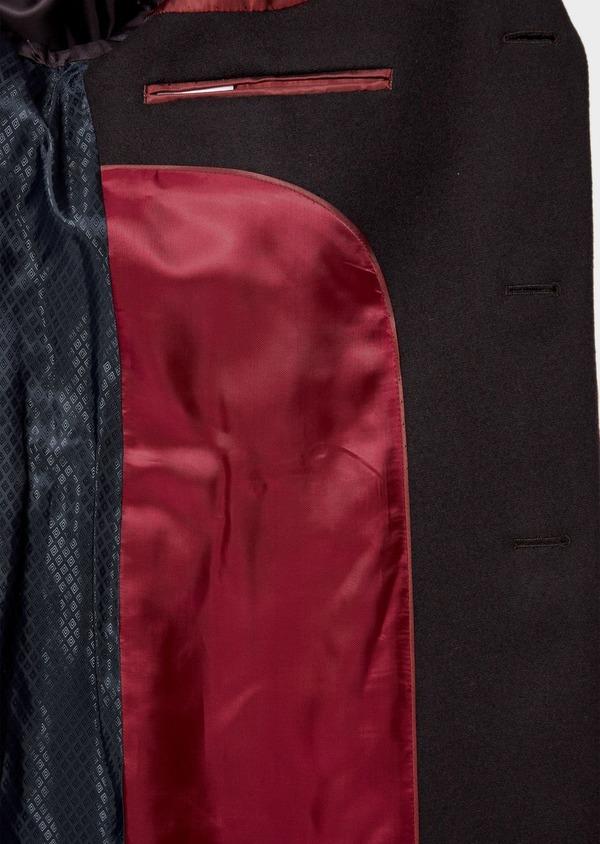 Manteau en laine mélangée unie bordeaux - Father and Sons 36356
