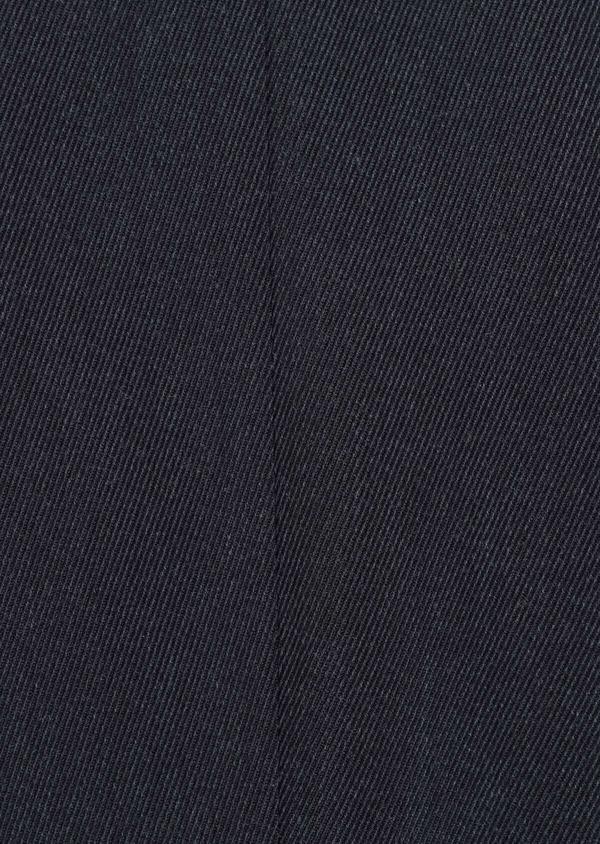 Manteau en laine mélangée unie bleu marine avec parementure amovible en suédine - Father and Sons 36899