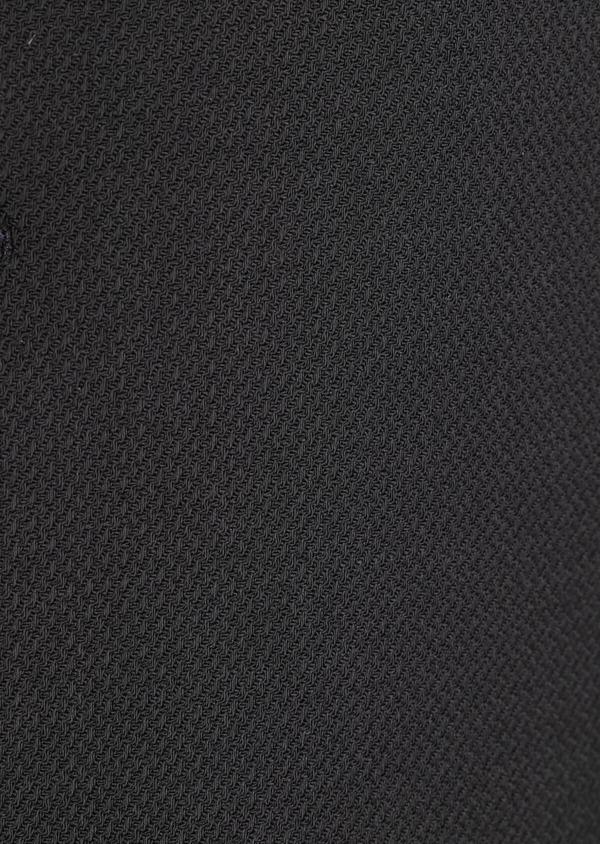 Manteau en laine mélangée unie noire avec parementure amovible en suédine - Father and Sons 36043
