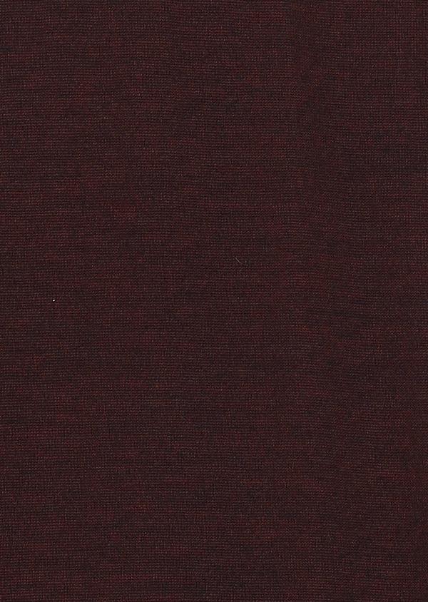 Pull en laine mérinos col roulé uni bordeaux - Father and Sons 27972