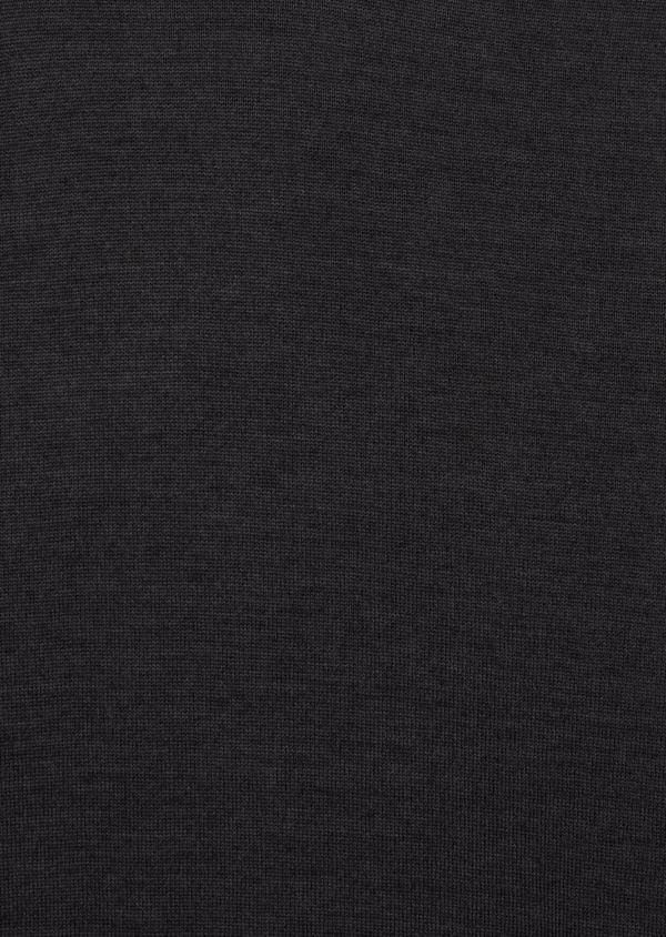 Pull en laine Mérinos mélangée col roulé uni gris anthracite - Father and Sons 37222