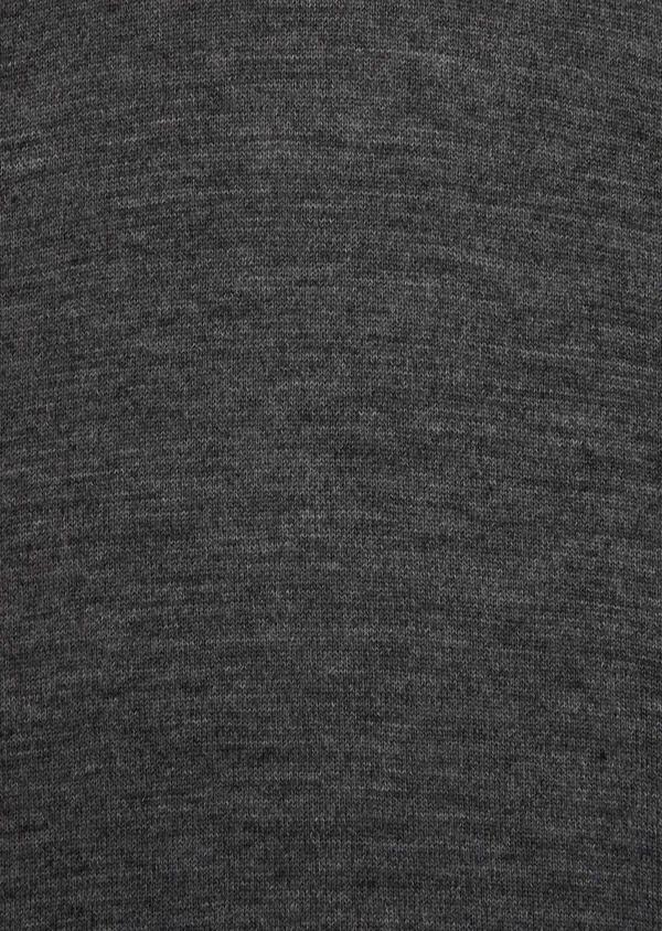 Pull en laine Mérinos mélangée col roulé uni gris - Father and Sons 35849