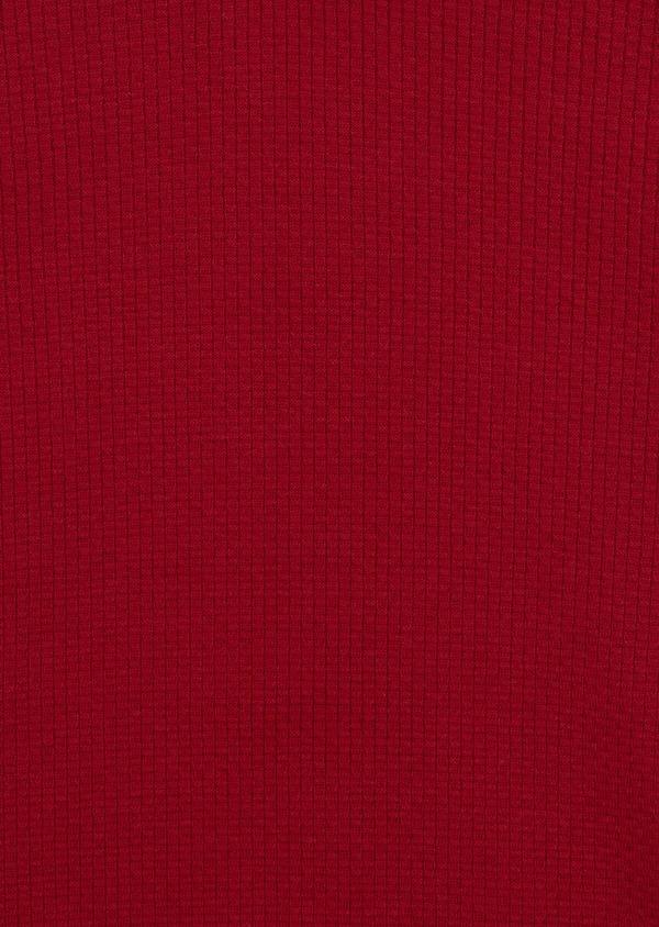 Pull en laine Mérinos mélangée col V uni rouge - Father and Sons 35356