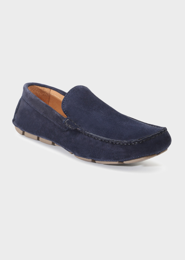 Mocassins en daim bleu marine - Father and Sons 33695