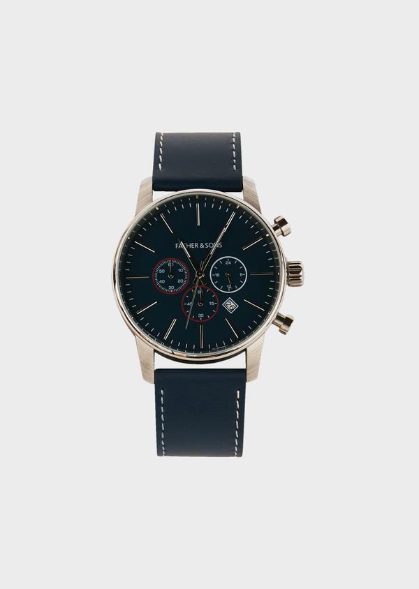 Montre bracelet cuir bleu indigo - Father and Sons 33208