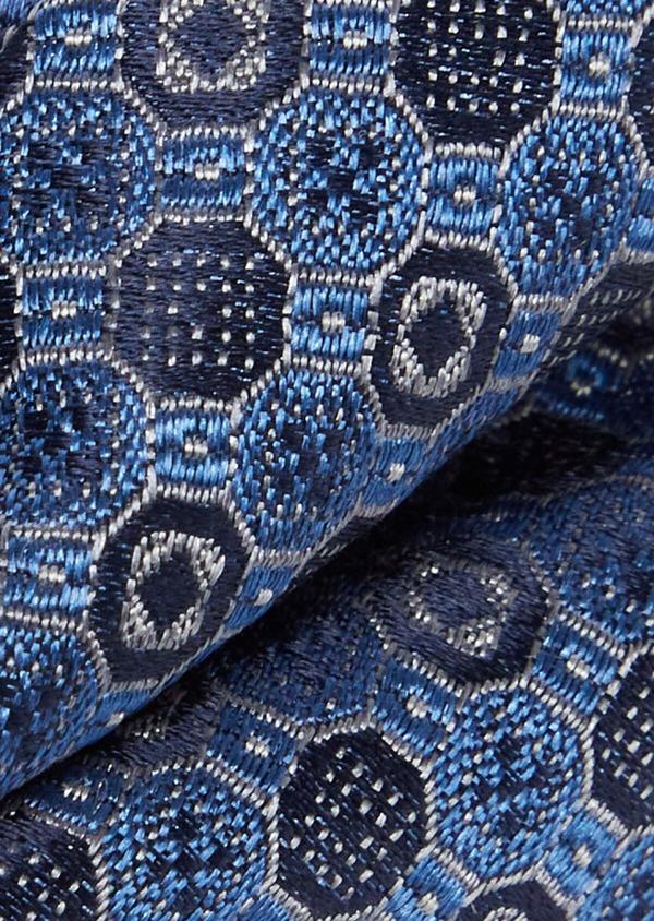 Noeud-papillon bleu à motif fantaisie - Father and Sons 38260