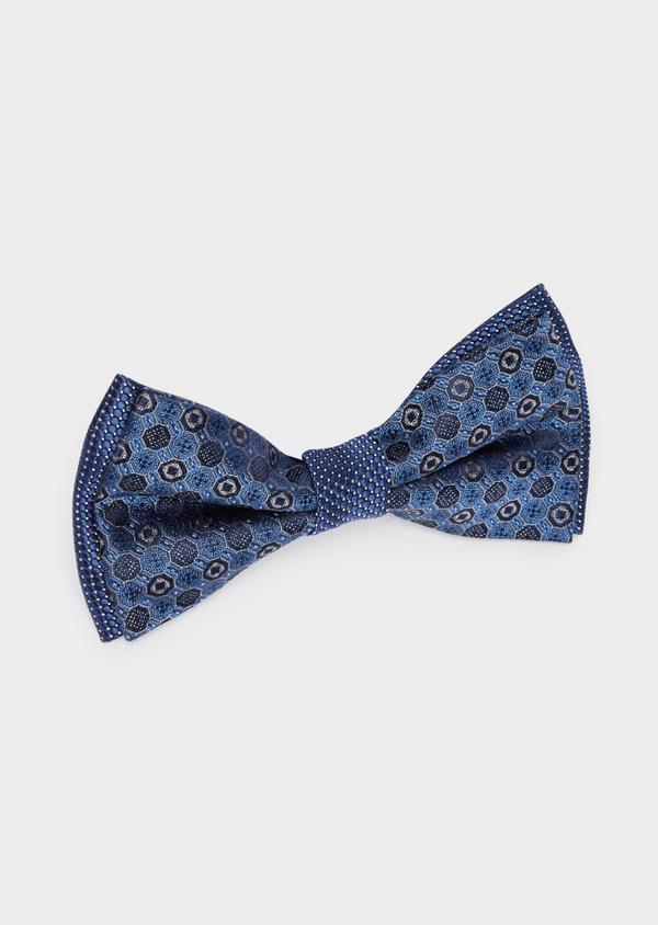 Noeud-papillon bleu à motif fantaisie - Father and Sons 38259