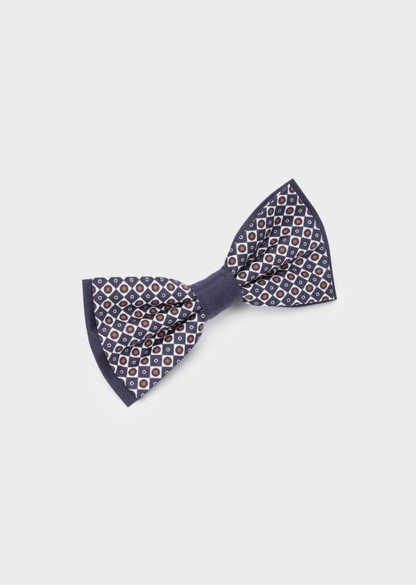 Noeud-papillon à motif fantaisie bleu marine et blanc - Father and Sons 38251